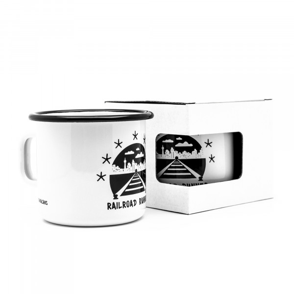 Montana Enamel Mug – Railroad Runner 300ml design by FORMULA76