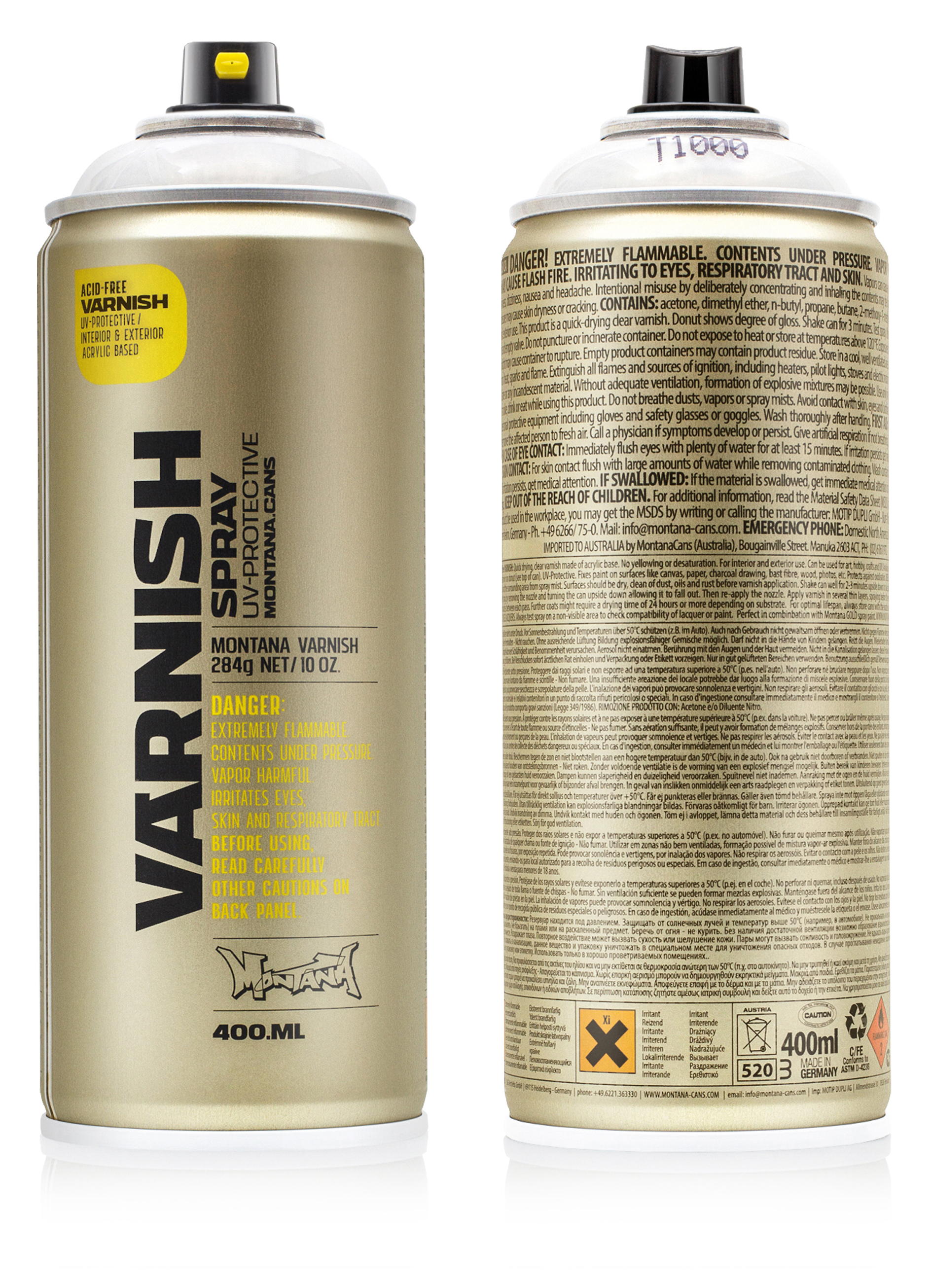 Montana VARNISH Spray 400ml | MONTANA-CANS - Highest Quality Spray