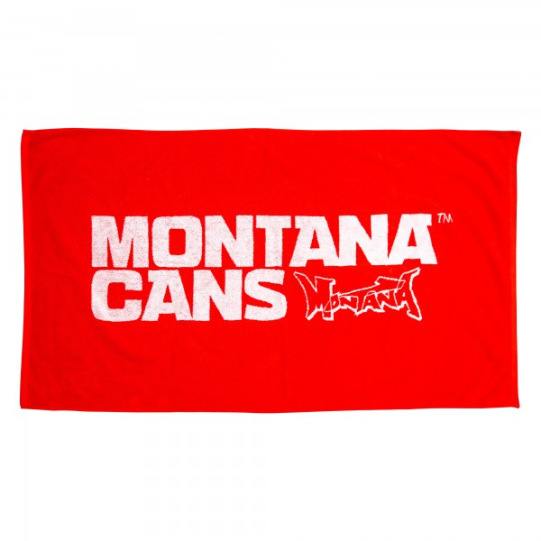 Montana Beach Towel Typo+Logo - Red