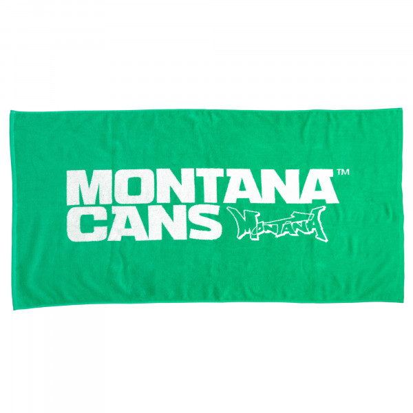 Montana Beach Towel Typo+Logo - Green