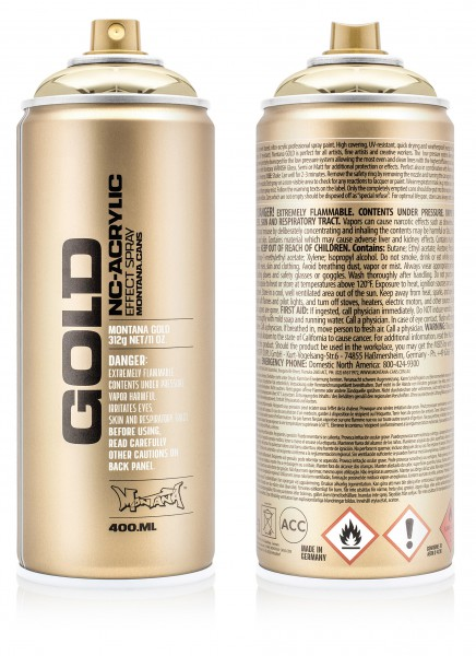 Montana GOLD 400ml - Chrome Effect Colors